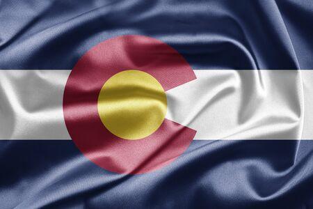 colorado flag: Flag of Colorado Stock Photo