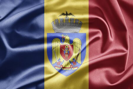 Flag of Bucharest Stock Photo