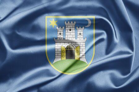 Flag of Zagreb Stock Photo - 13003664