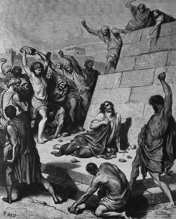 Stephen, a martyr for Christ  1  Le Sainte Bible  Traduction nouvelle selon la Vulgate par Mm  J -J  Bourasse et P  Janvier  Tours  Alfred Mame et Fils  2  1866 3  France 4  Gustave Doré