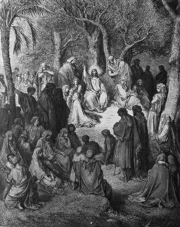 bible shepherd: Sermon on the Mount  1  Le Sainte Bible  Traduction nouvelle selon la Vulgate par Mm  J -J  Bourasse et P  Janvier  Tours  Alfred Mame et Fils  2  1866 3  France 4  Gustave Doré Editorial