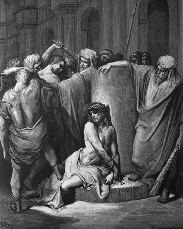 flagellation: Flagellation 1  Le Sainte Bible  Traduction nouvelle selon la Vulgate par Mm  J -J  Bourasse et P  Janvier  Tours  Alfred Mame et Fils  2  1866 3  France 4  Gustave Dor�