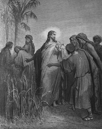 Jesus and the Pharisees 1  Le Sainte Bible  Traduction nouvelle selon la Vulgate par Mm  J -J  Bourasse et P  Janvier  Tours  Alfred Mame et Fils  2  1866 3  France 4  Gustave Dor�