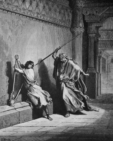 bible shepherd: Wrath of Saul  1  Le Sainte Bible  Traduction nouvelle selon la Vulgate par Mm  J -J  Bourasse et P  Janvier  Tours  Alfred Mame et Fils  2  1866 3  France 4  Gustave Dor�