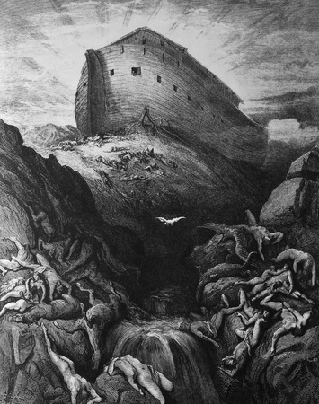 Noah released a dove  1  Le Sainte Bible  Traduction nouvelle selon la Vulgate par Mm  J -J  Bourasse et P  Janvier  Tours  Alfred Mame et Fils  2  1866 3  France 4  Gustave Doré