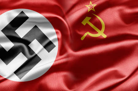nazism:  NAZI and USSR flags