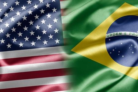 brazilian flag: USA and Brazil