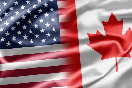 bandera estados unidos: EE.UU. y Canadá Foto de archivo