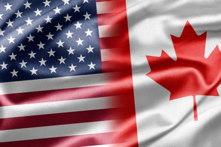 canadian state flag: USA and Canada