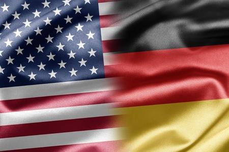 german flag: USA and Germany