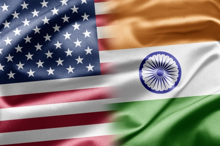 USA and India photo