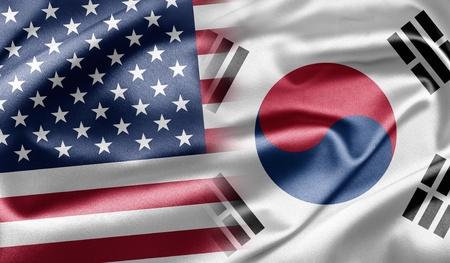 south korea flag: United States and South Korea