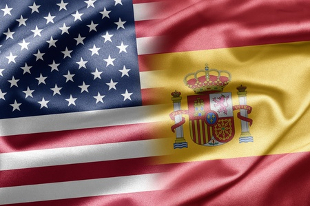 spanish flag: United States and Spain