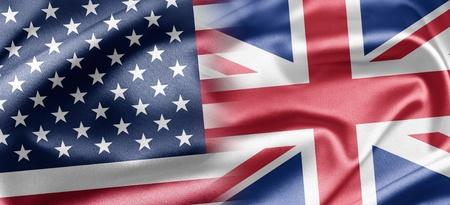 banderas americanas: De los Estados Unidos y el Reino Unido