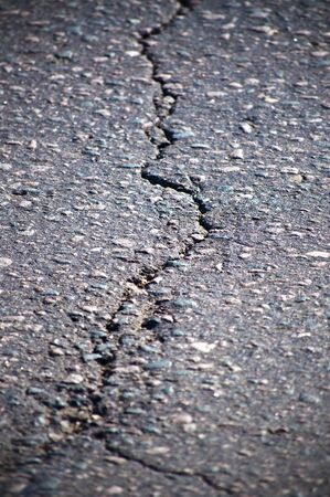 Cracked asphalt photo