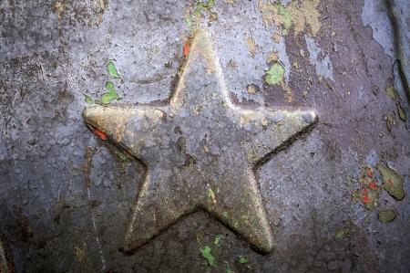 Old metallic Soviet star photo