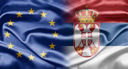 EU and Serbia Stock Photo - 14250733