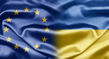 EU and Ukraine Stock Photo