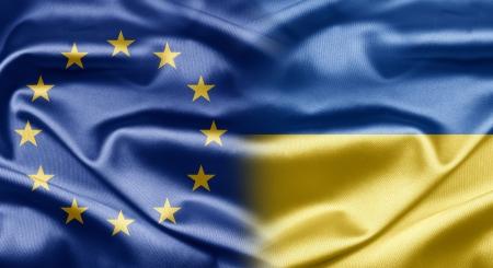 eu: EU and Ukraine Stock Photo