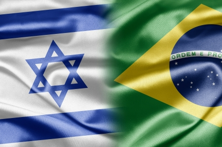 Israel and Brazil Stock Photo