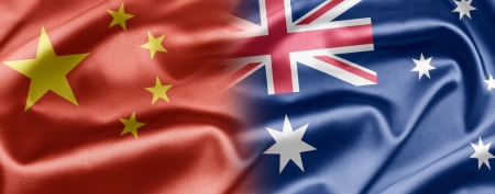 chinese flag: China and Australia