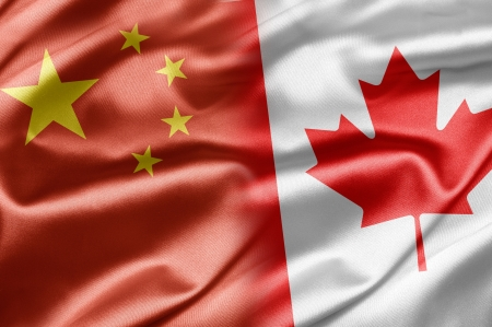 chinese flag: China and Canada