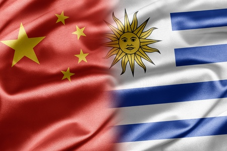China and Uruguay Stock Photo - 14567893