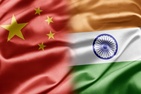 bandera de la india: China y la India