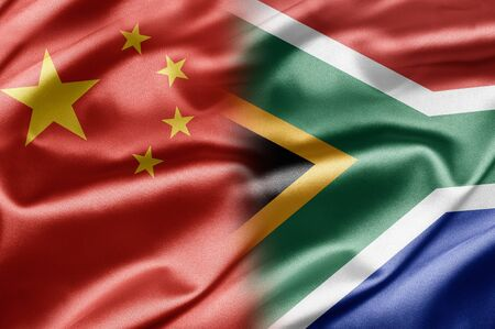 China and South Africa Stock Photo - 14568242