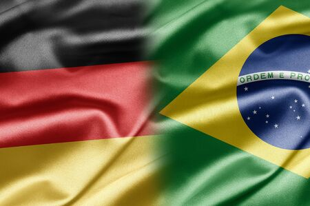 brazil symbol: Germany and Brazil Stock Photo