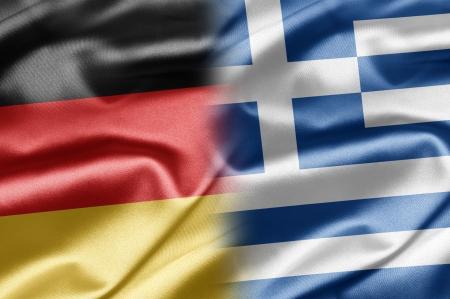 bandera alemania: Alemania y Grecia Foto de archivo