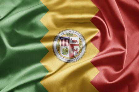 angeles: Flag of Los Angeles Stock Photo