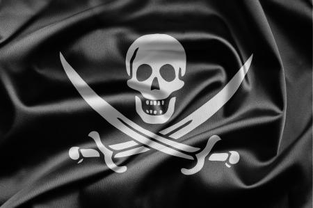 drapeau pirate: Drapeau de pirate Banque d'images