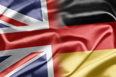 bandiera inglese: Regno Unito e Germania Archivio Fotografico