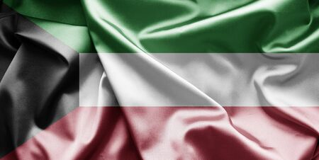 kuwait: Flag of Kuwait  Stock Photo