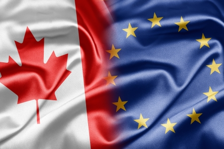 canadian state flag: Canada and European Union