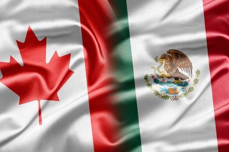 bandera mexicana: Canad� y M�xico