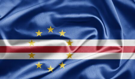 Flag of Cape Verde Stock Photo