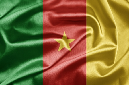 cameroon: Camerun bandiera Archivio Fotografico