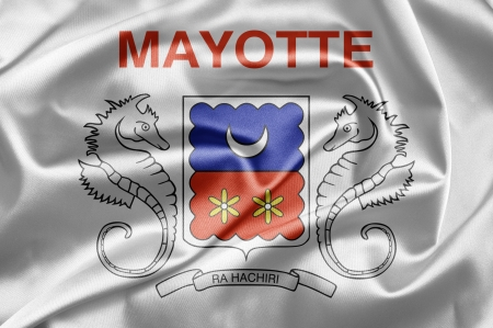 mayotte: Flag of Departmental Collectivity of Mayotte Stock Photo