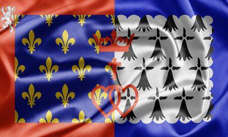 pays: Pays de la Loire flag, France Stock Photo