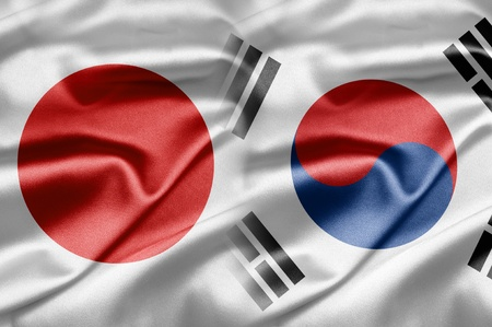 japanese flag: Japan and South Korea