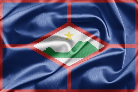 sint: Flag of Sint Eustatius Stock Photo
