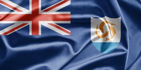 anguilla: Flag of Anguilla Stock Photo