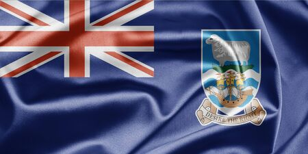 brutish: Flag of Falkland Islands Stock Photo