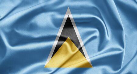 lucia: Flag of Saint Lucia Stock Photo