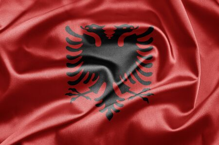 Bandiera dell'Albania photo