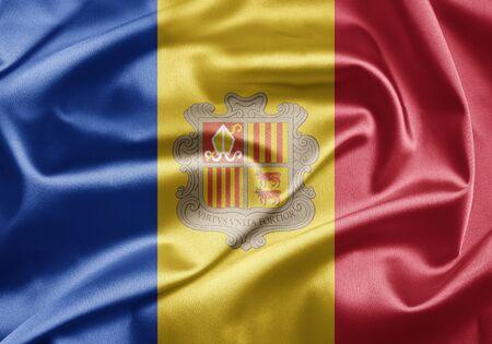 Flag of Andorra Stock Photo - 15064259