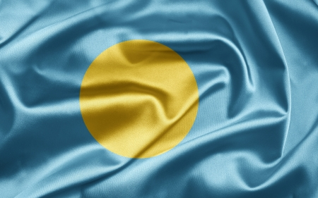 er: Flag of Palau Stock Photo