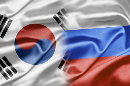 South Korea and Russia Stock Photo - 15064160